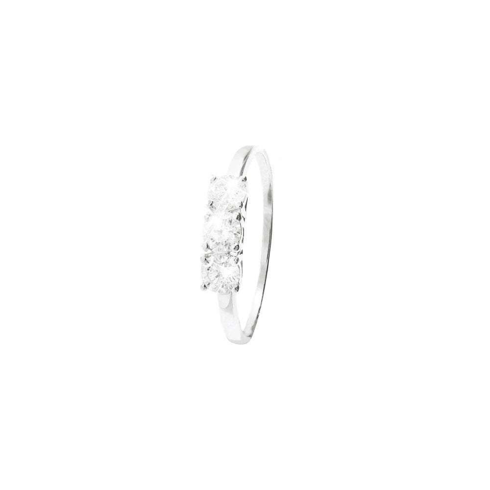 Trilogy in oro bianco e diamanti 0,75 ct