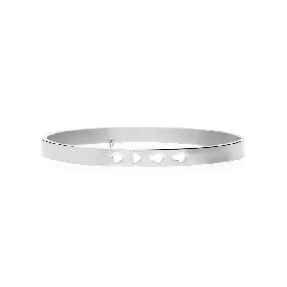 """Bangle """"Mum: a title just above queen"""" in acciaio e strass"""